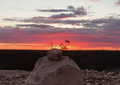 Sunset at Lightning Ridge, NSW