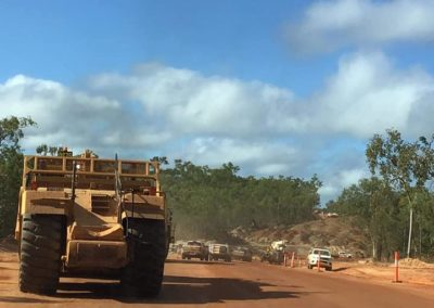 We got us a convoy of big trucks! Some of the locals excited to join the RQTs convoy - near Archer River Roadhouse.