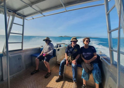 Enjoying the trip away from the Tip to Thursday Island — at Endeavour Strait