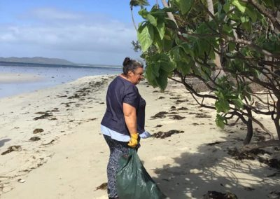 Clean up Chilli Beach. Amazing the amount of rubbish which collects at this stretch of coast - Chilli Beach, Cape York