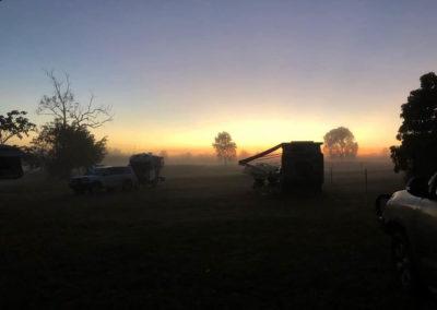 Sunrise at Merluna — at Merluna Station Stay