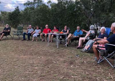 Sundowners at Cobbold Gorge Campground