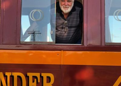 Is that Santa in the window? — at Croydon railway station, Qld